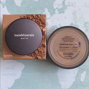 Bare Minerals matte foundation medium tan spf 15